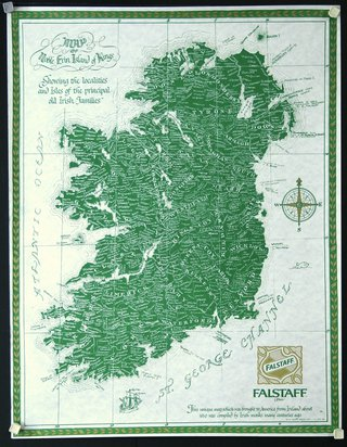 Map Of Ireland Poster.Chisholm Larsson Gallery Over 60 000 Original Vintage Posters