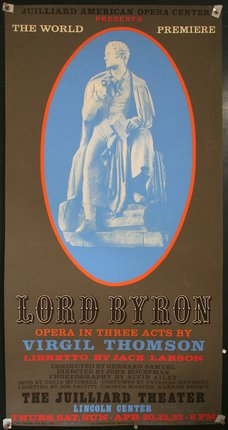 Juilliard American Opera Center presents Lord Byron, Opera in Three Acts (Autographed)