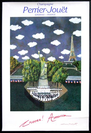 Vintage French Champagne Perrier Jouet Poster