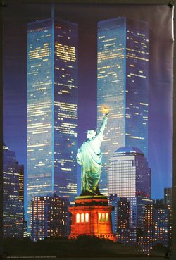 Statue of Liberty and Twin Towers, World Trade Center