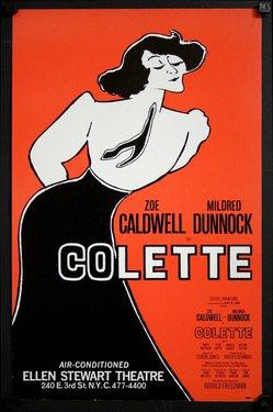 Zoe Caldwell- Colette - Ellen Stewart Theatre (Window Card)