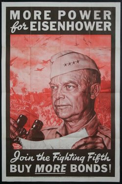 More Power for Eisenhower - Join the Fighting Fifth - Buy More Bonds!
