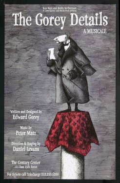 The Gorey Details - A Musicale - The Century Center (Window Card) 1