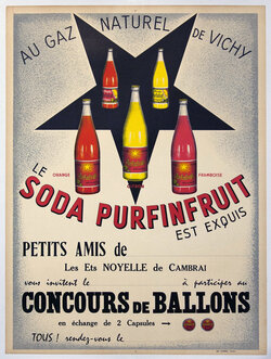 Soda Purfinfruit - Concours de Ballons, Au Gaz Naturel de Vichy